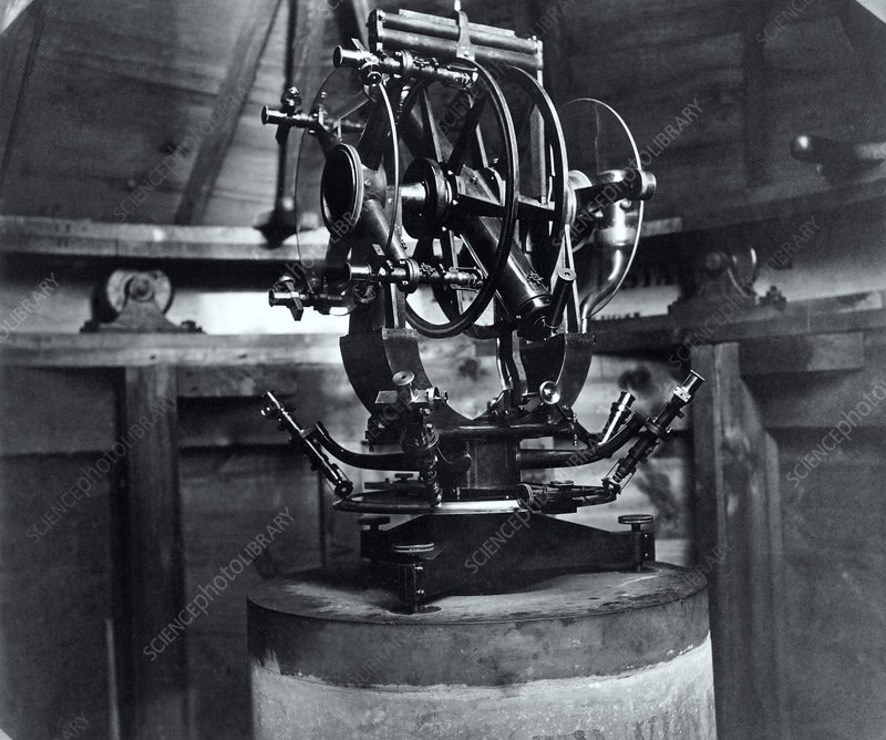 Telescope mount for 1874 transit of Venus