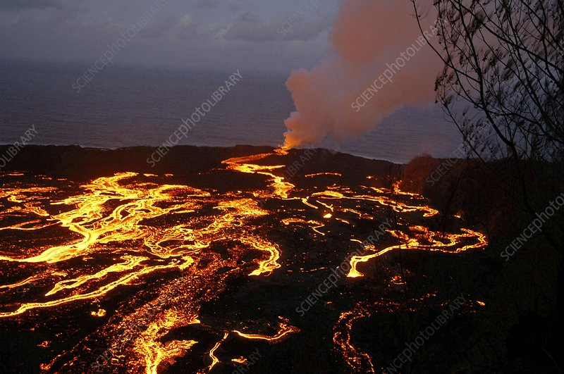 Volcanic eruption, Reunion Island