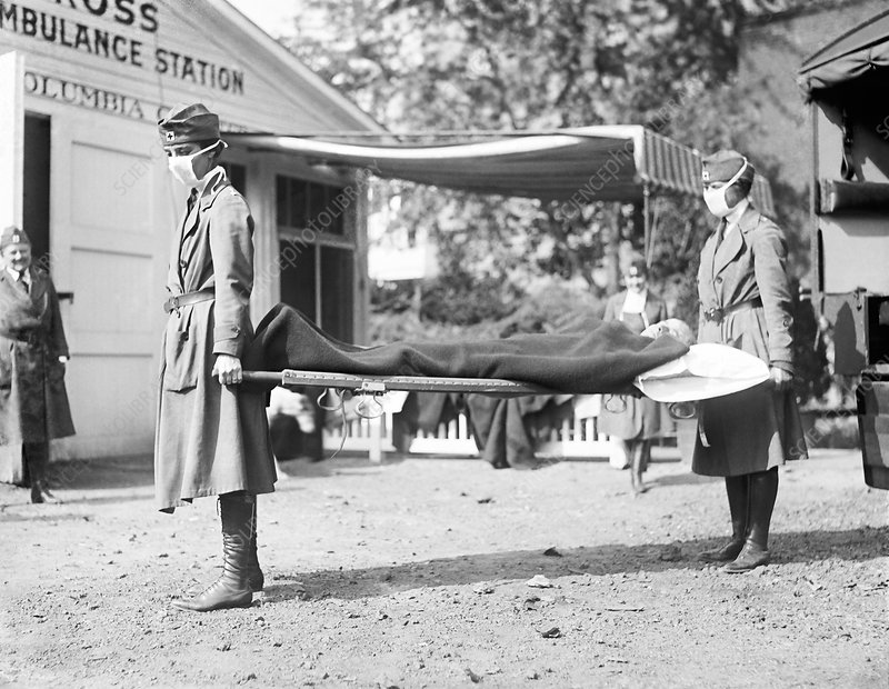 Red Cross demonstration, USA, 1918