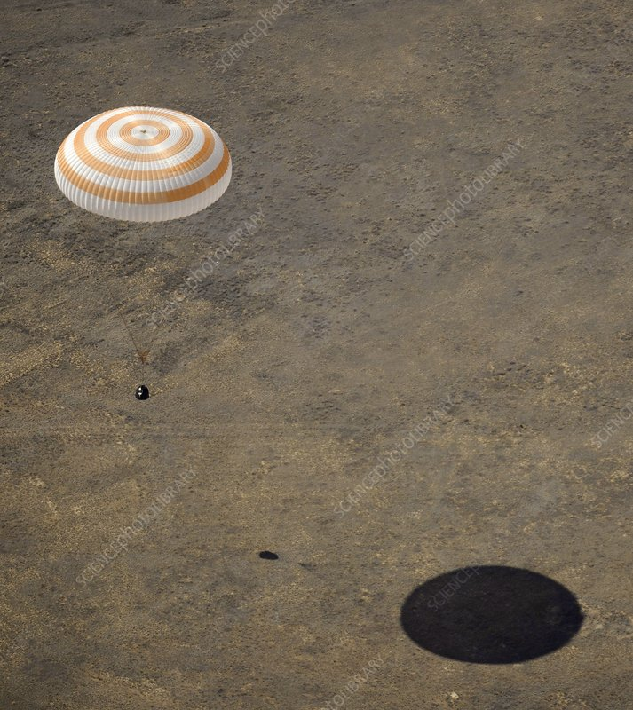 Expedition 18 landing, April 2009