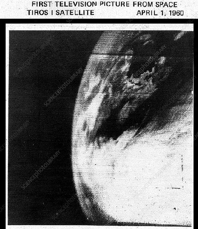 First television picture from space, 1960
