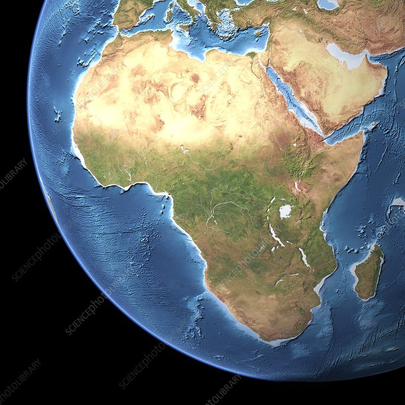 Africa, topographic map