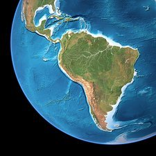 South America, topographic map