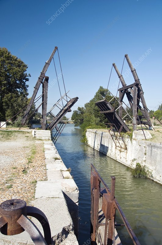 Wooden drawbridge, France