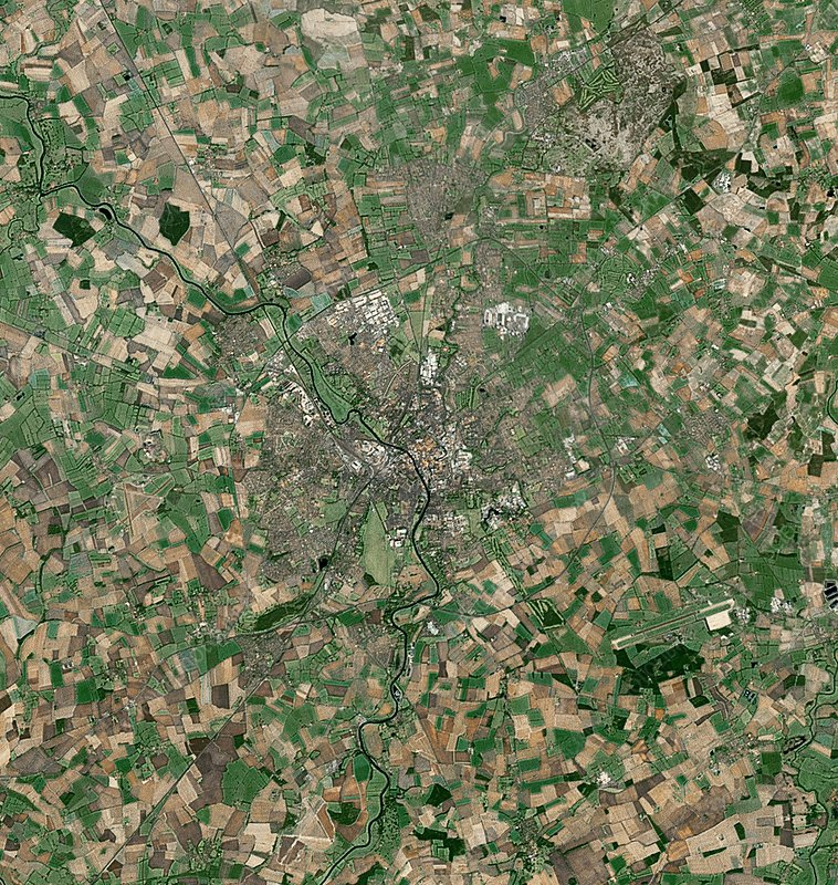 York, UK, satellite image