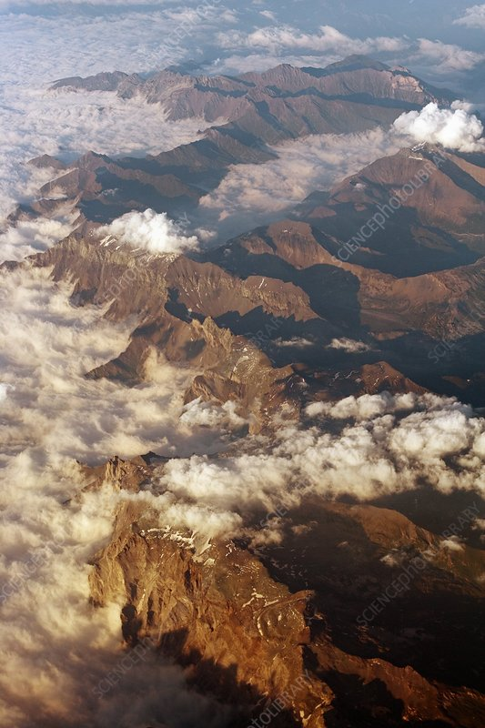 The Alps, aerial photograph