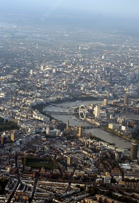 London, UK, aerial photograph