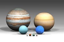 Sizes of Solar System planets compared