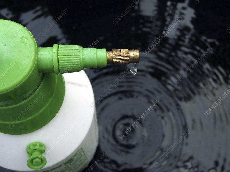 Sprayer with droplet of water