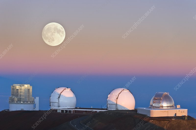 Observatories on summit of Mauna Kea