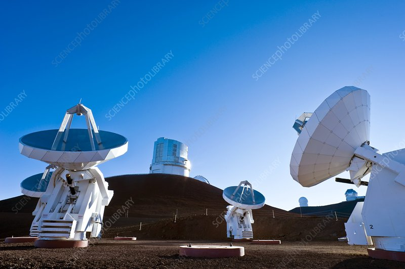 Submilllimeter Array telescopes, Hawaii