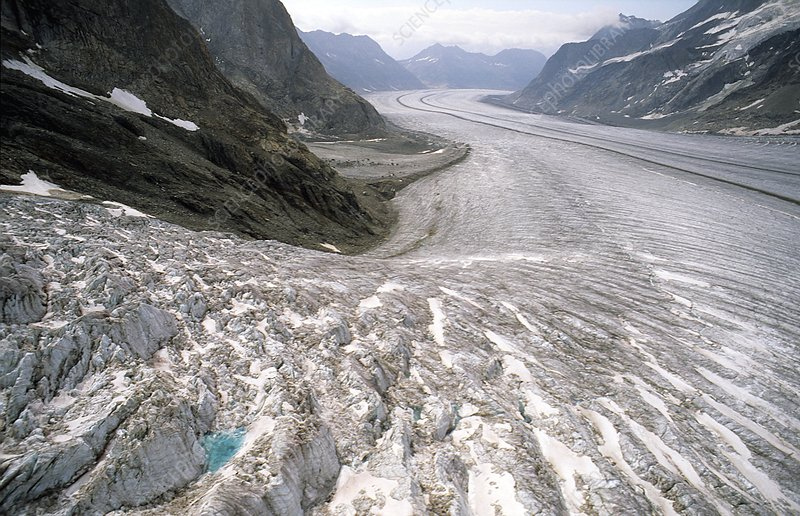 Great Aletsch glacier, Switzerland