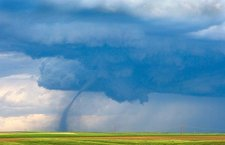 Tornado over fields