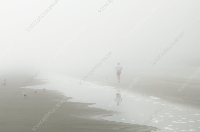 Jogging in fog