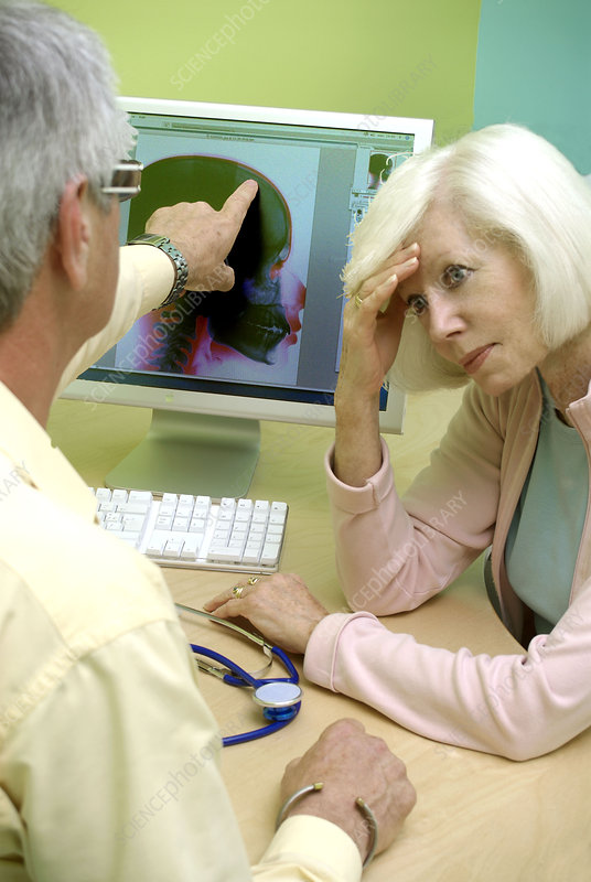 Elderly person in consultation
