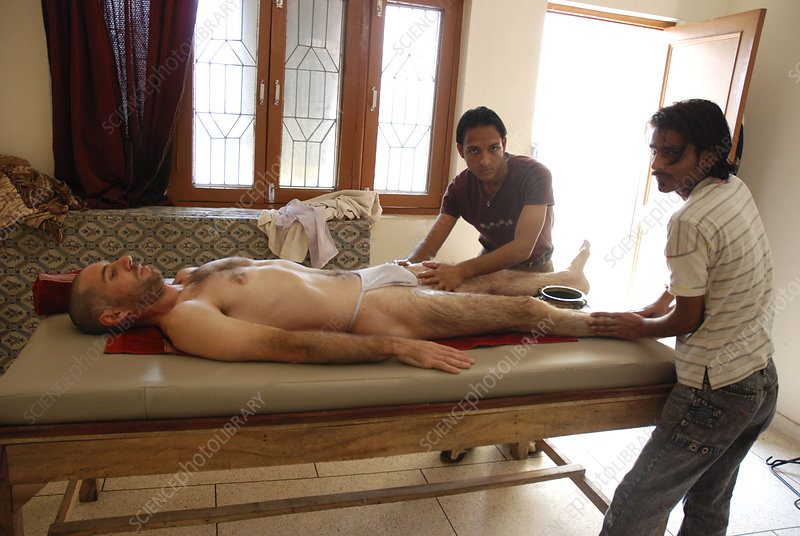 ayurvedic massage stock image c002 science photo