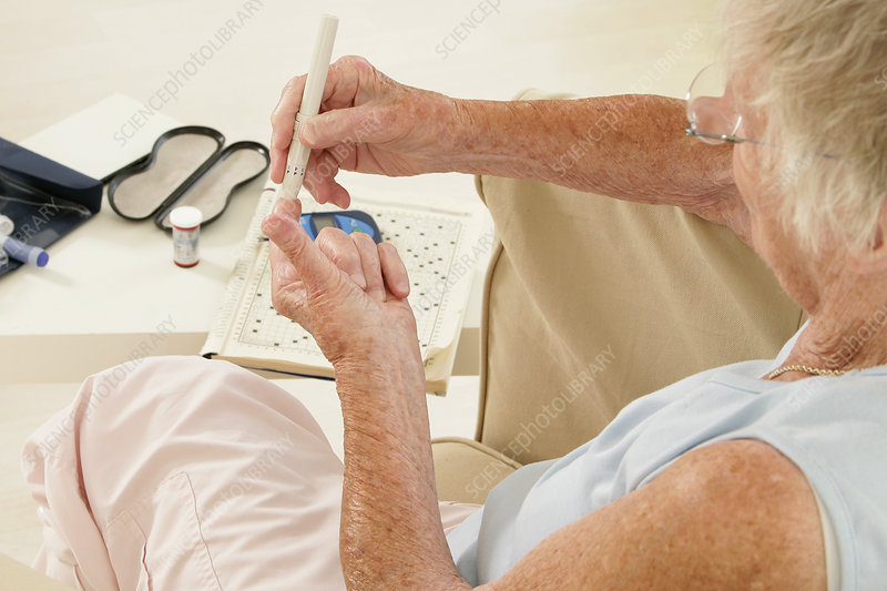 Test for diabetes elderly person