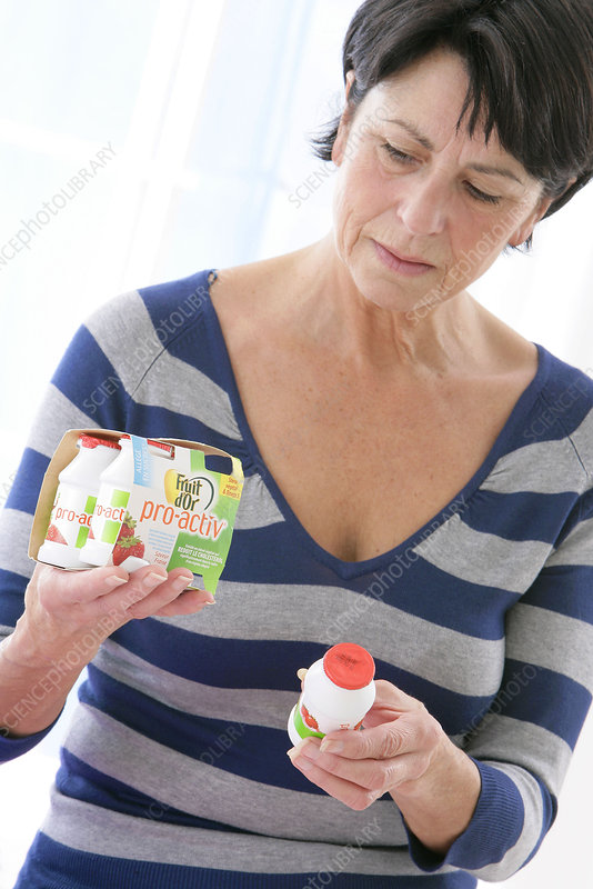 'Elderly person, dairy product'