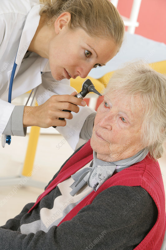'Ear nose &throat, elderly person'