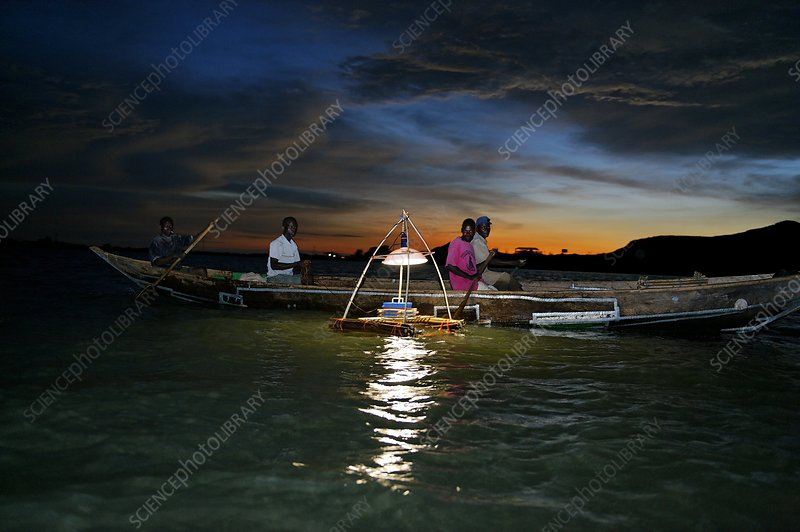 Night fishing, Lake Victoria, Kenya