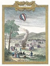 Montgolfier's first balloon flight