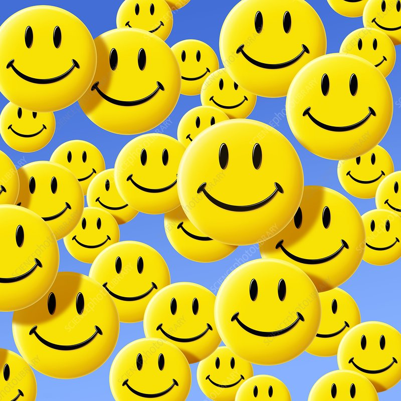 Smiley Face Symbols Stock Image C0021246 Science Photo Library