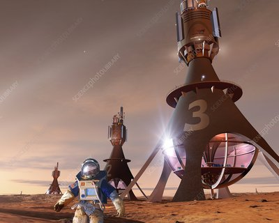 Future Mars exploration, artwork