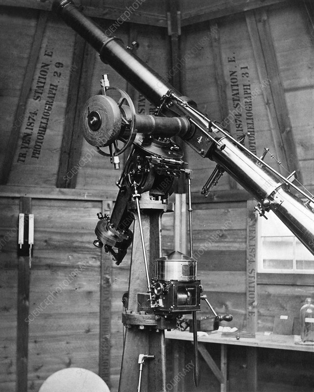 Photoheliograph for 1874 transit of Venus