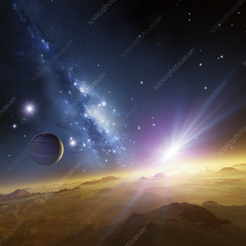 Extrasolar gas giant planet, artwork