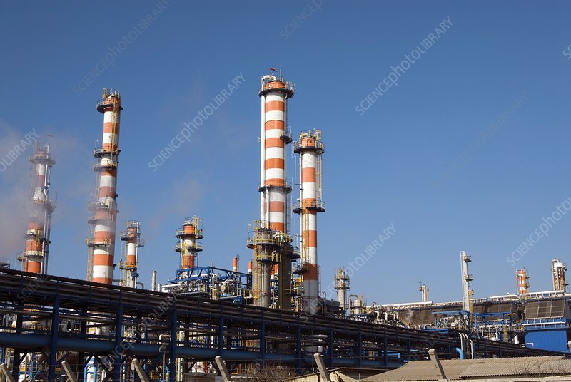 Haifa Petrochemical Plant Stock Image C002 3270