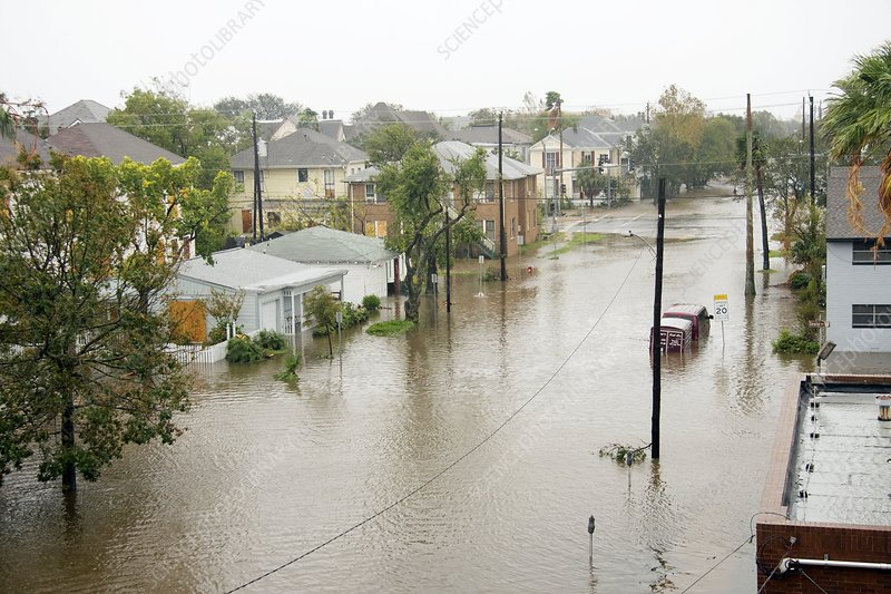 Hurricane Ike flood waters, 2008