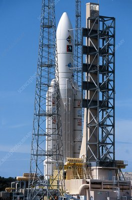 Ariane 5 rocket on launch pad