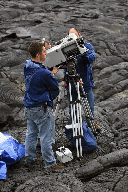 Documentary film crew, Hawaii