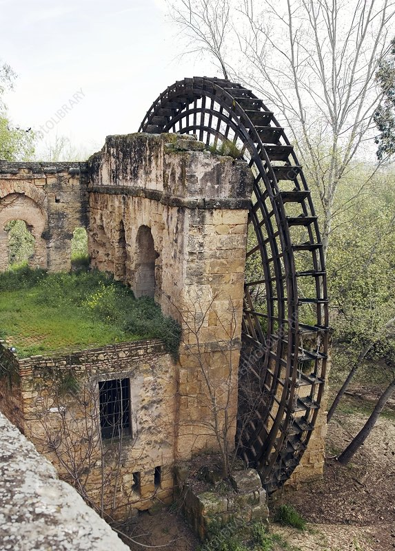 Islamic waterwheel, Cordoba, Spain