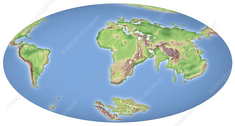 Continental drift after 100 million years   Stock Image   C002