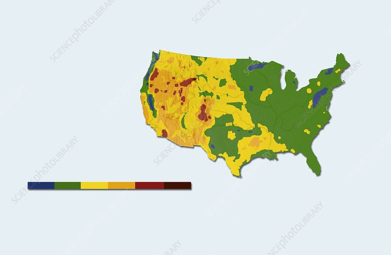 Geothermal mapping, USA
