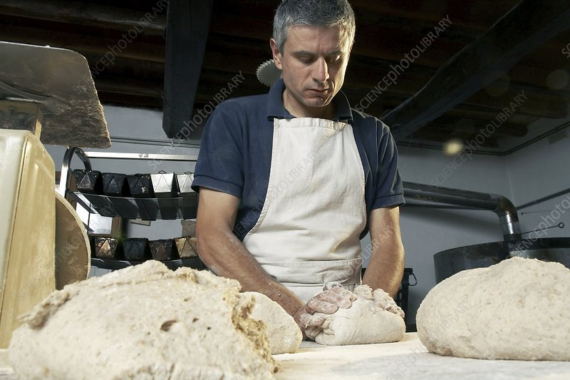 Organic bread baking