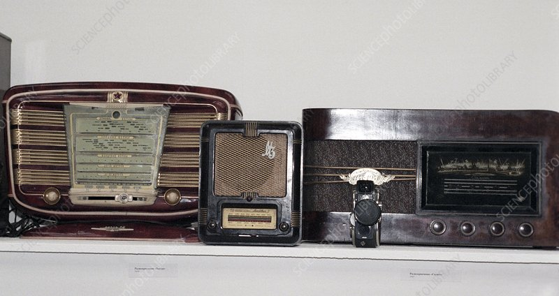 Radio sets from the 1940s and 1950s
