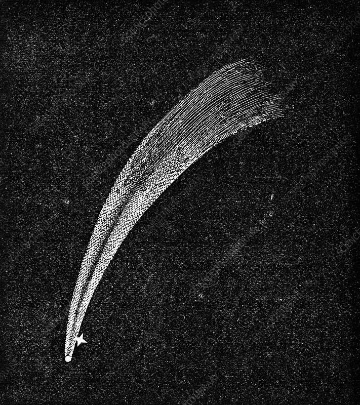 Donati's Comet, 19th century artwork