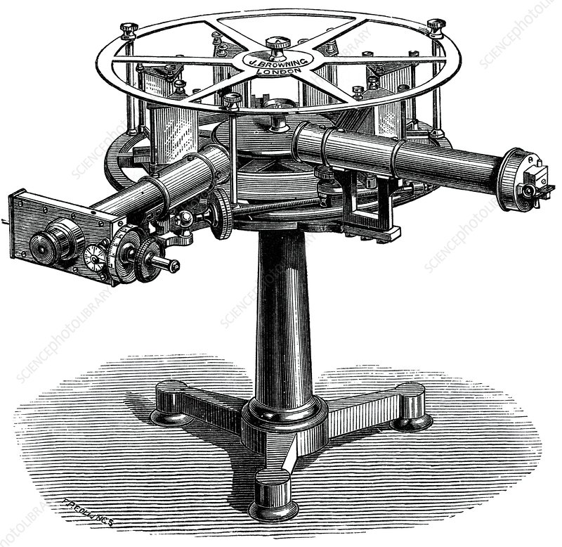 Spectroscope, 19th century artwork
