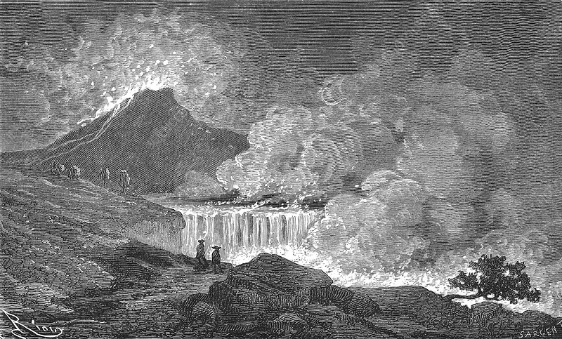 Eruption of Etna, 19th century artwork