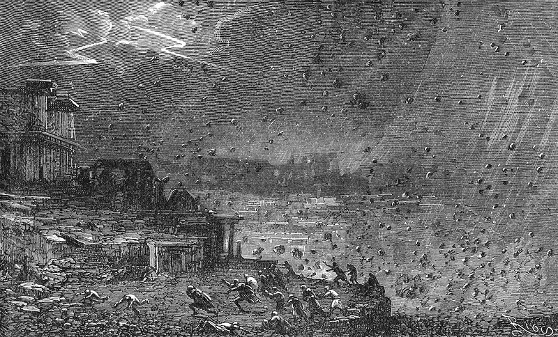 Destruction of Pompeii, artwork