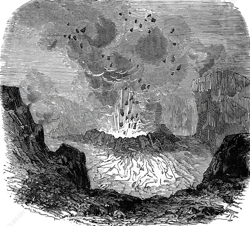Crater of Vesuvius, 19th century artwork