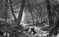 Carboniferous swamp, 19th century artwork