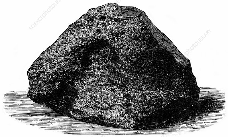 Caille meteorite, 19th century artwork