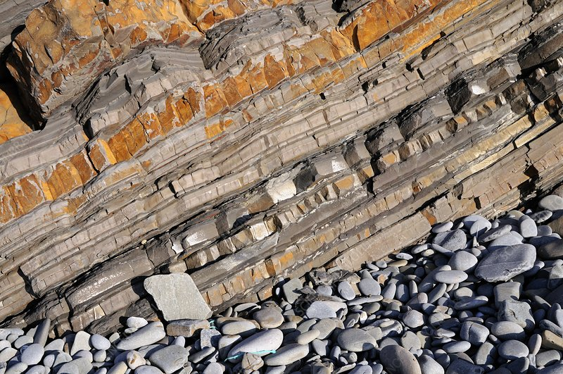 Carboniferous sandstone and shale layers