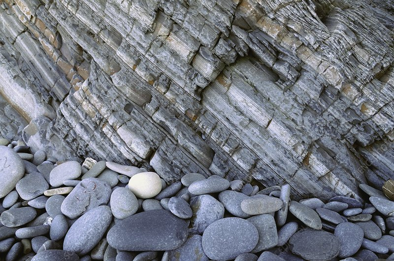 Carboniferous shale layers