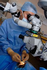 Eye cataract surgery