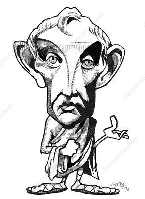 Aristotle, caricature