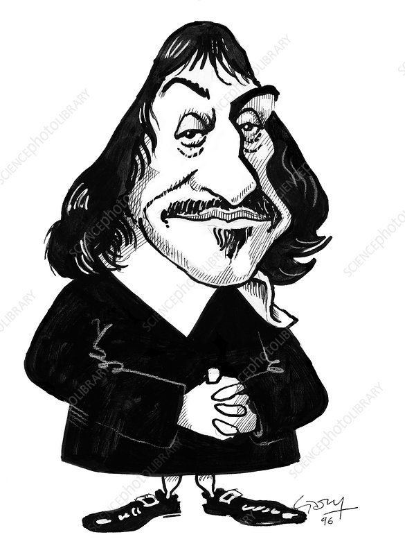 Rene Descartes, caricature